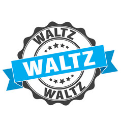 waltz stamp sign seal vector image vector image