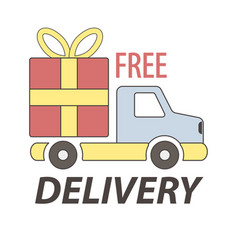 express free delivery service logo concept vector image vector image