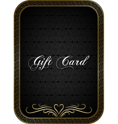 Gift card black 1 vector image