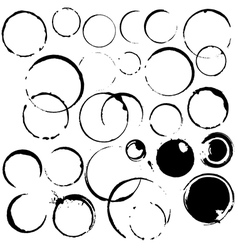 ink stains paint ring vector image vector image