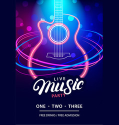 live music party design template vector image vector image