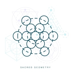 Sacred geometry sign linear modern art vector