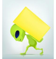 Cartoon Character ALIEN 038 CS5 vector image vector image