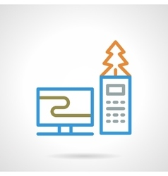 Colored simple line online Christmas icon vector image