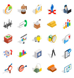 model icons set isometric style vector image vector image