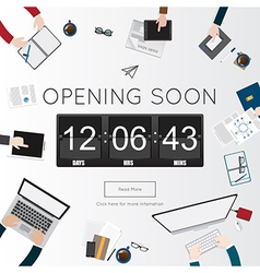 Opening Soon for website template vector image vector image