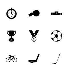 sport icon set vector image vector image