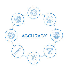 8 accuracy icons vector