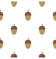Acorn icon in cartoon style for web vector