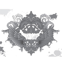 baroque floral vector image