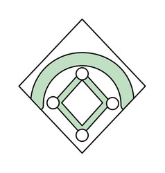 baseball field isolated vector image