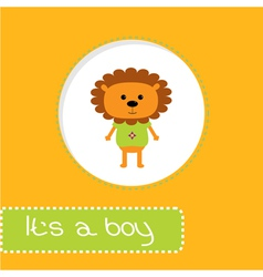 Bashower card with lion its a boy vector