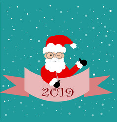 beautiful greeting card banner with santa claus vector image