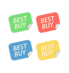 best buy labels isolated on white vector image