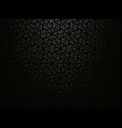 black gradient background with geometric ornament vector image