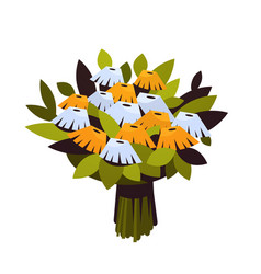 bouquet of flowers 8 march happy womens day vector image