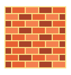 brick wall flat icon security and build vector image