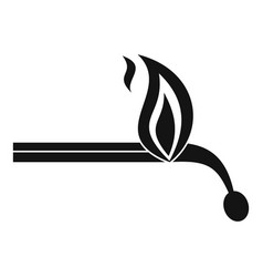 burning match icon simple style vector image