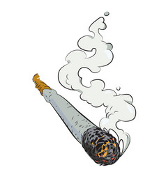 Cartoon image of marijuana joint vector