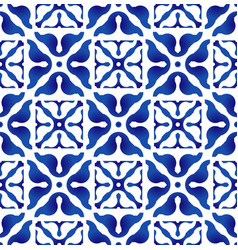 Ceramic indigo pattern vector