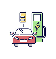 charging station rgb color icon vector image