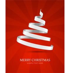 Christmas tree from ribbon vector