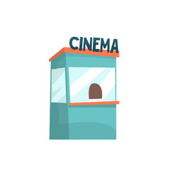 Cinema ticket booth box office kiosk cartoon vector