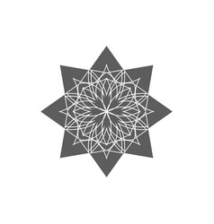 Circular geometrical ornament ornamental vector