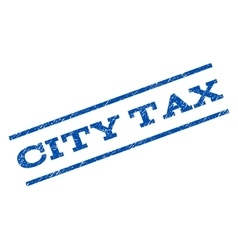 City Tax Watermark Stamp vector