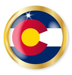 Colorado flag button vector
