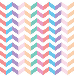 Colorful zig zag fabric seamless texture vector