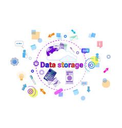 data storage center hosting server computer device vector image