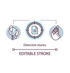 Detective stories books concept icon crime vector