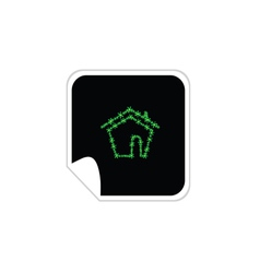 eco house sticker vector image