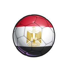 Egyptian flag football - soccer ball vector