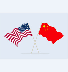 flag usa and china together a symbol of vector image