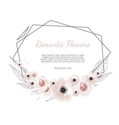 floral botanical card design with vector image