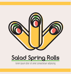 food logotype with three rolls vector image