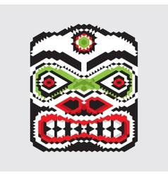 Geometric haida mask vector image