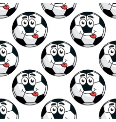 Goofy soccer ball seamless pattern vector