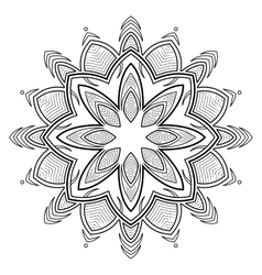 Graphic circular ornament vector image