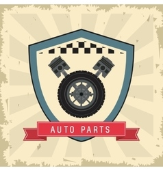 Grunge and Striped Auto part design vector