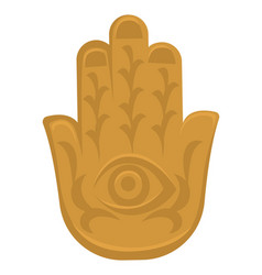 hamsa hand indian culture symbol religion and vector image