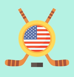 Hockey in united states vector