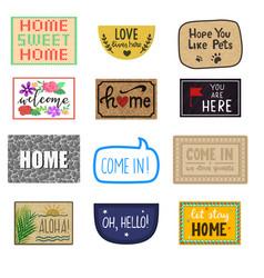 home mat welcome doormat of front house vector image