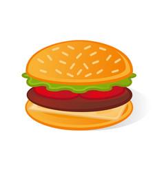 icon burger vector image