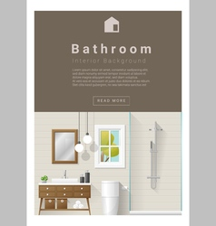 Interior design Modern bathroom banner 7 vector image