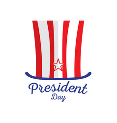 isolated american hat president day vector image