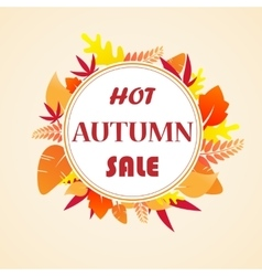 Leaves autumn sale vector