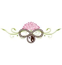 Lotus yin yang vector